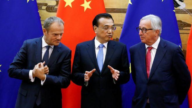中國總理李克強和歐盟理事會主席早前舉行峰會,承諾要抵制保護主義與單邊主義,但雙方的分歧似乎依舊。