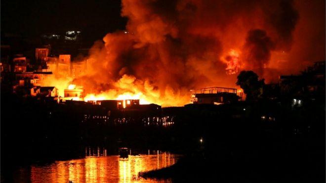 Resultado de imagem para foto incêndio flamengo
