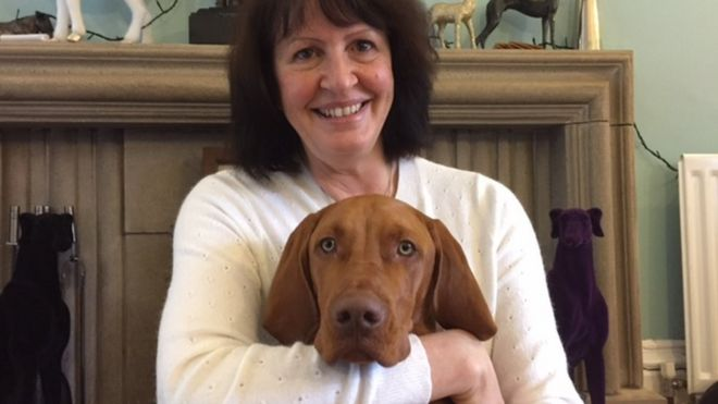 Gwen Bailey with her Vizsla, Otto