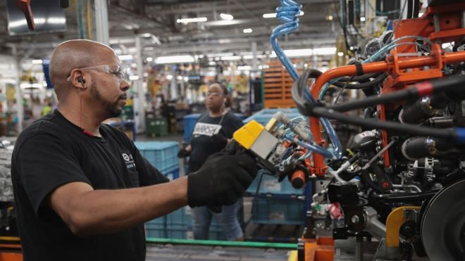 US car plant worker
