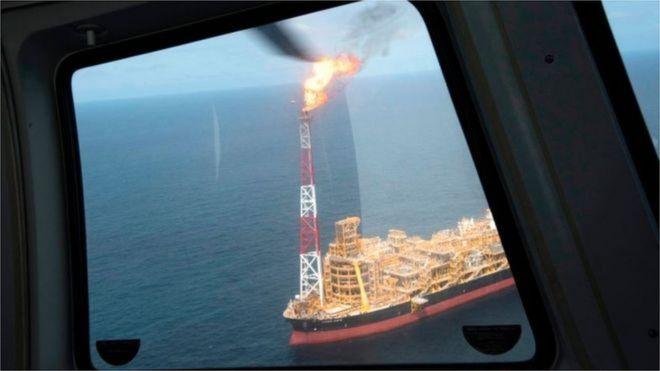 Một dự án khai thác dầu khí trên biển