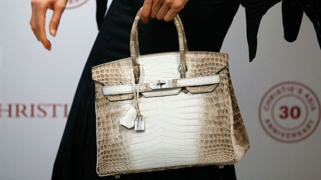 f515aca43 Ten-year-old Hermes Birkin handbag sells for £162,500 - BBC News