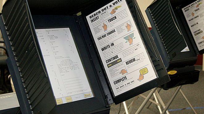 Máquinas de votar utilizadas en las elecciones de 2006 en Virginia