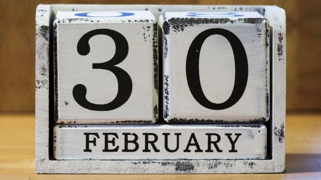 Fecha 30 de febrero