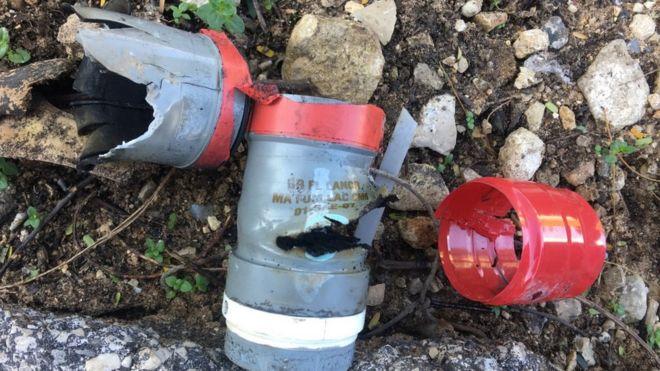 احدى عبوات قنابل CM6التي استخدمت لفض التظاهرات خلال الشهرين الاخيرين