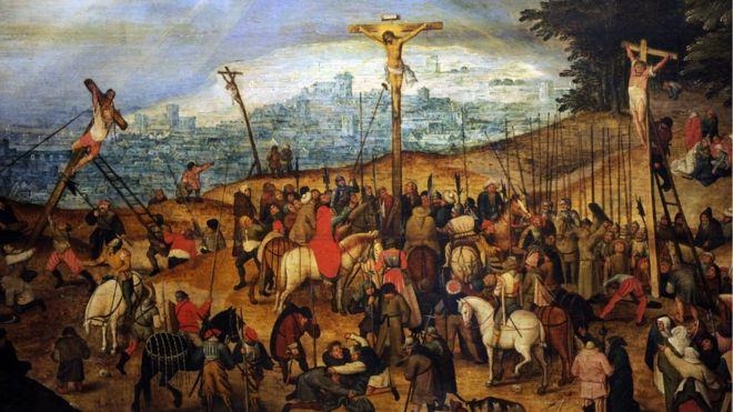 Cópia de Crucificação, obra de Pieter Bruegel, o Jovem