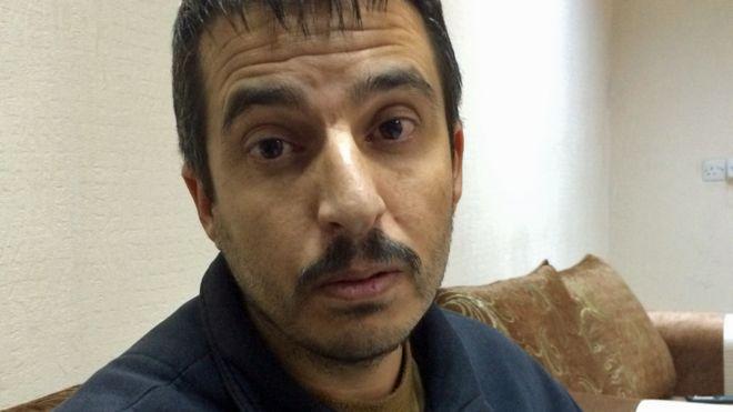 محمد ابراهیم عضو داعش که در بازداشت نیروهای کرد است
