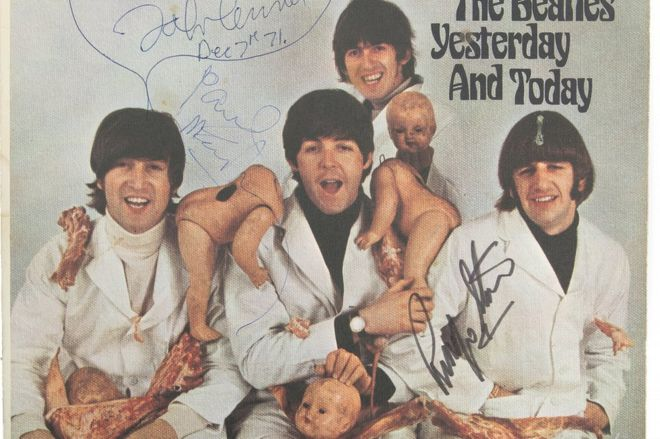John Lennon's copy of Beatles 'butcher' album sold at