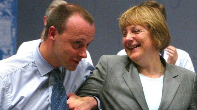 Фридрих Мерц, Ангела Меркель, 2002 год