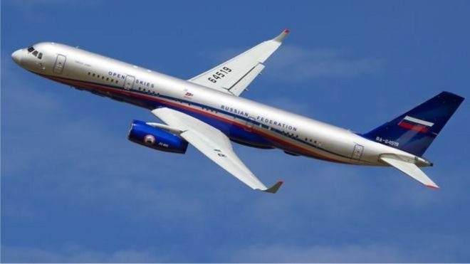 俄羅斯曾經使用此類飛機對美國進行觀察。