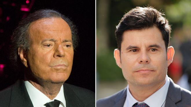 Julio Iglesias y Javier Sánchez Santos.