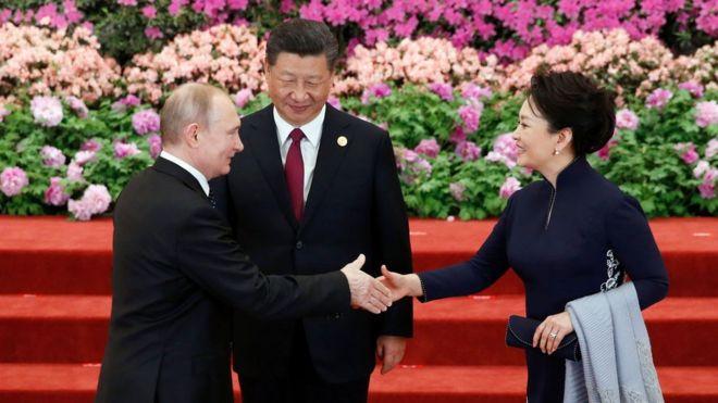 Tổng thống Nga Vladimir Putin được Trung Quốc trọng thị