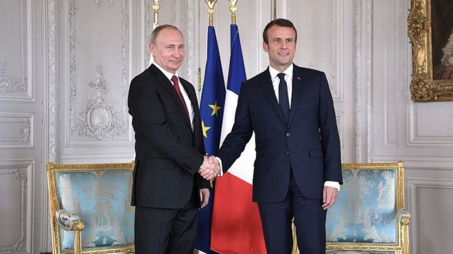 Картинки по запросу Путин и Макрон