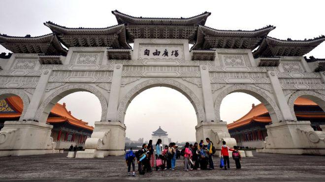台北中正纪念堂前的自由广场(资料图片)