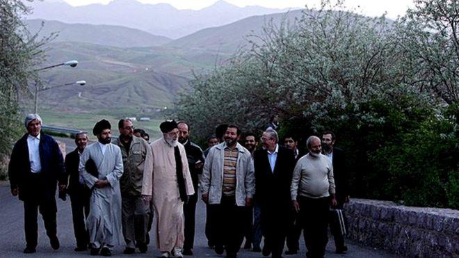 رهبر ایران و همراهانش در سفر به کردستان