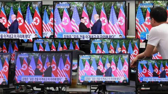 美朝峰會電視直播