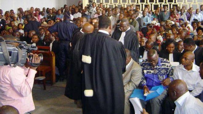 Une Cour de Brazzaville en 2005
