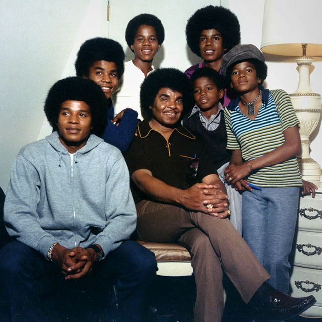 The Jackson family with Joe Jackson centre