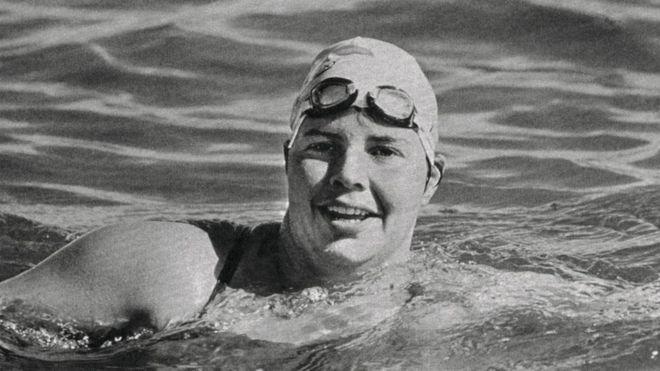Lynne Cox en 1987.