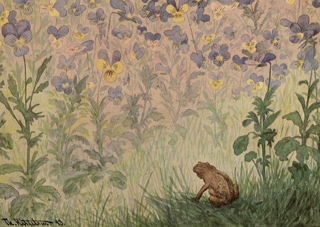 ภาพวาดคางคก ชื่อว่า อะเมซซิ่ง ของ ธีโอดอร์ คิตเทลเสน