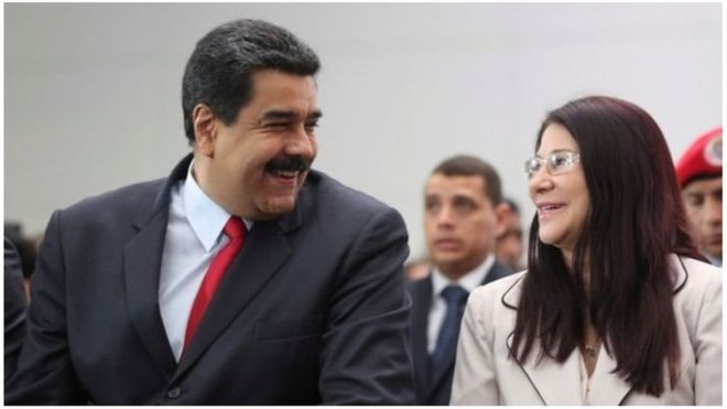 Rais wa Venezuela Nicolas Maduro na mkewe