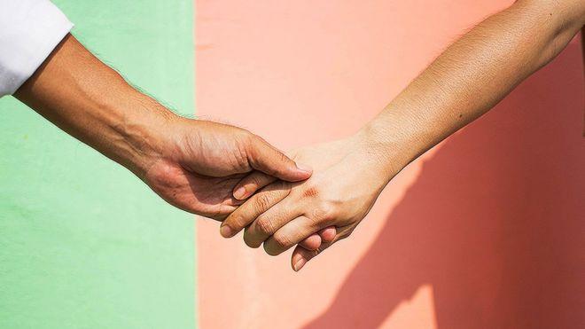 Duas mãos dadas