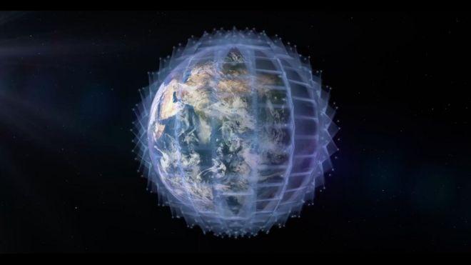 Ilustração mostra rede de conecção de internet ao redor da Terra