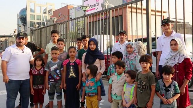 After this group of war orphans were prevented from entering from a luxury mall in Baghdad, the centre offered to pay for the care of 50 children