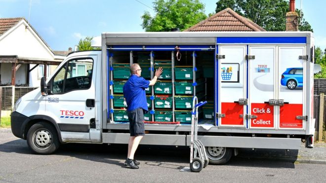 Tesco takes on Amazon with same-day delivery across UK - BBC News