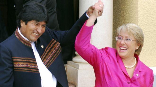 Evo y Bachelet