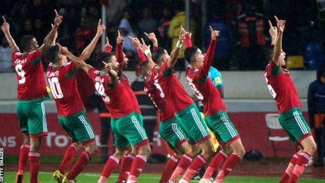 Wachezaji wa Morocco