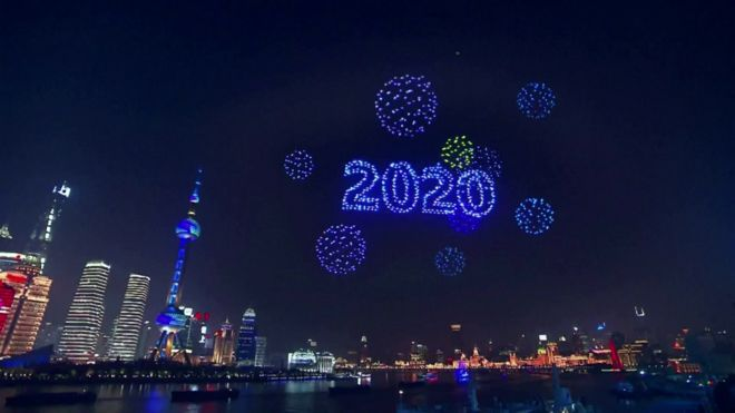 Drone display over Shanghai