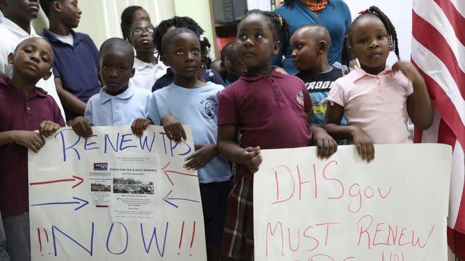 Protesta para defender el programa TPS.