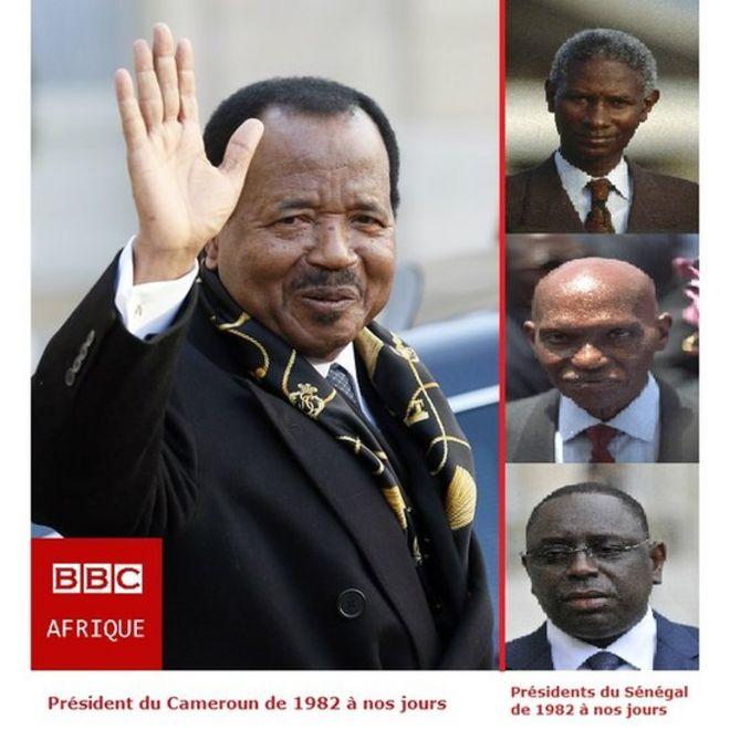 Paul Biya est arrivé au pouvoir trois ans après le départ de Senghor. Deux alternances se sont produits et trois présidents se sont succédés: Diouf, Wade et Macky Sall.