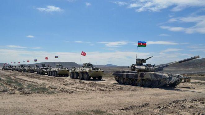 Azərbaycan, Türkiyə və Gürcüstan birgə hərbi təlim keçirir - BBC News  Azərbaycanca