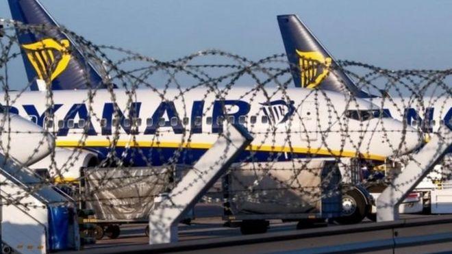 """احتجاز طائرة لـ""""ريان إير"""" الأيرلندية في فرنسا بسبب خلاف مالي"""