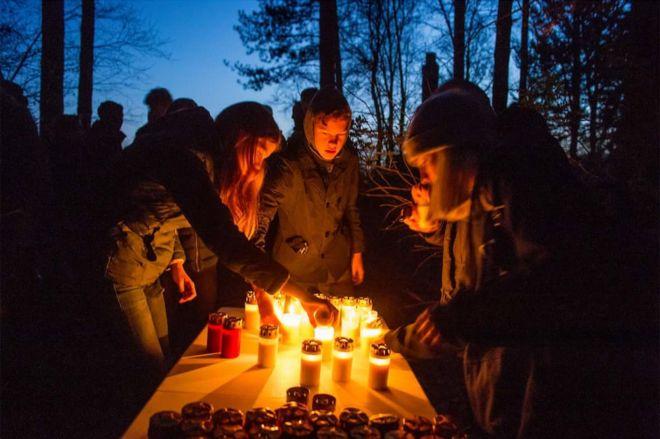 Свечи в память погибших