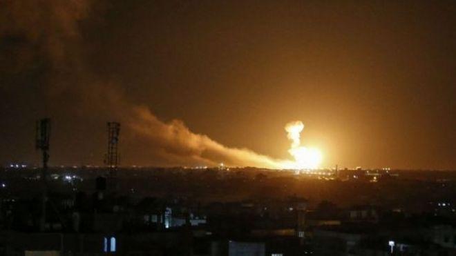 اسرائیل می گوید به تلافی حملات راکتی جهاد اسلامی مواضع آن را هدف قرار داده است