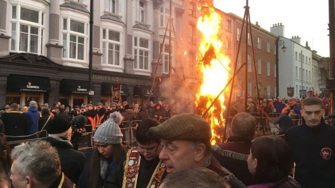 Apprentice Boys' Lundy parade in Londonderry