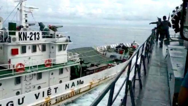 Hình chụp do hải quân Indonesia công bố cho truyền thông ngày 29/4/2019