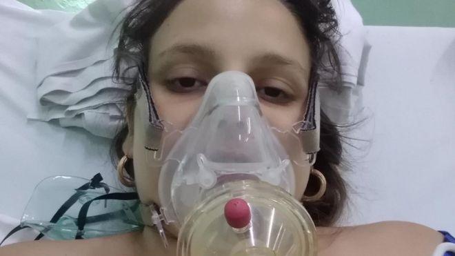 Lydda María Rivero, de 28 años, a punto da dar a luz a su segundo bebé