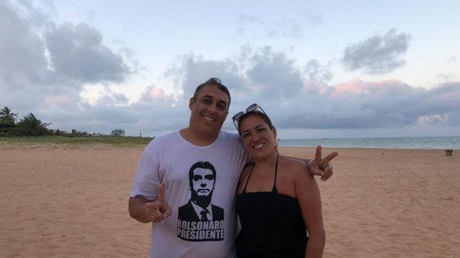 Douglas e Janine têm candidatos diferentes: ele vota em Jair Bolsonaro, ela, em Álvaro Dias. (Foto: Arquivo pessoal)