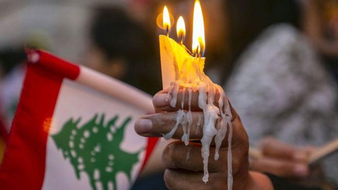 Память о погибших в Бейруте