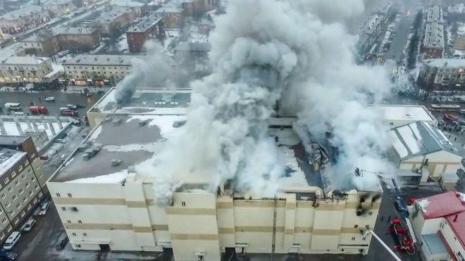 Incêndio em shopping center russo