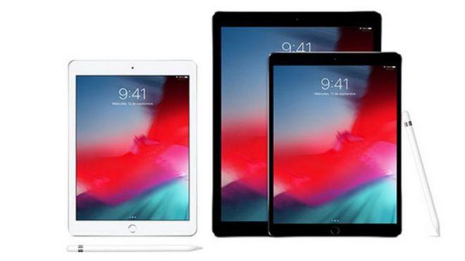 Imágenes de varios modelos de Apple.