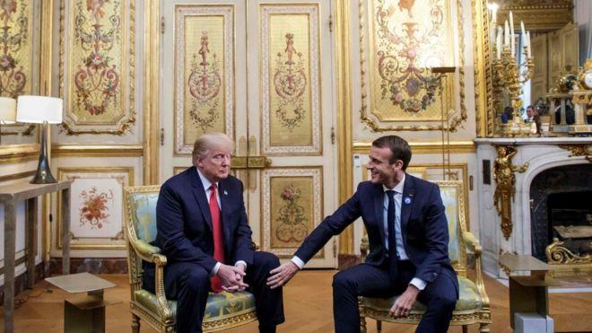 Трамп и Макрон
