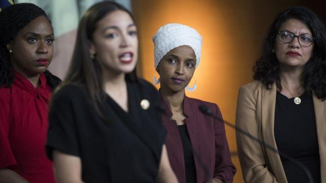 Las cuatro congresistas.