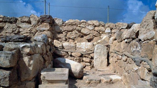Foto de arquivo das ruínas do templo em Arad