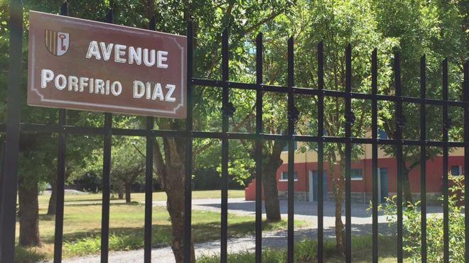Avenida Porfirio Díaz en Barcelonnette