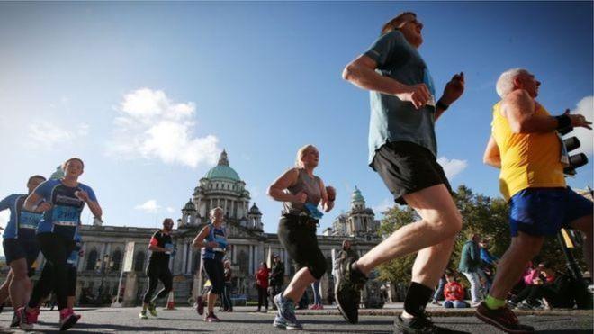 Belfast Marathon runners, archive pic